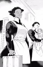 Krone e Mama chegando ao orfanato
