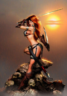 Joe benitez s red sonja by mystic oracle