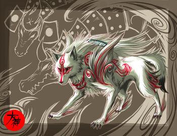 Okami wolf form