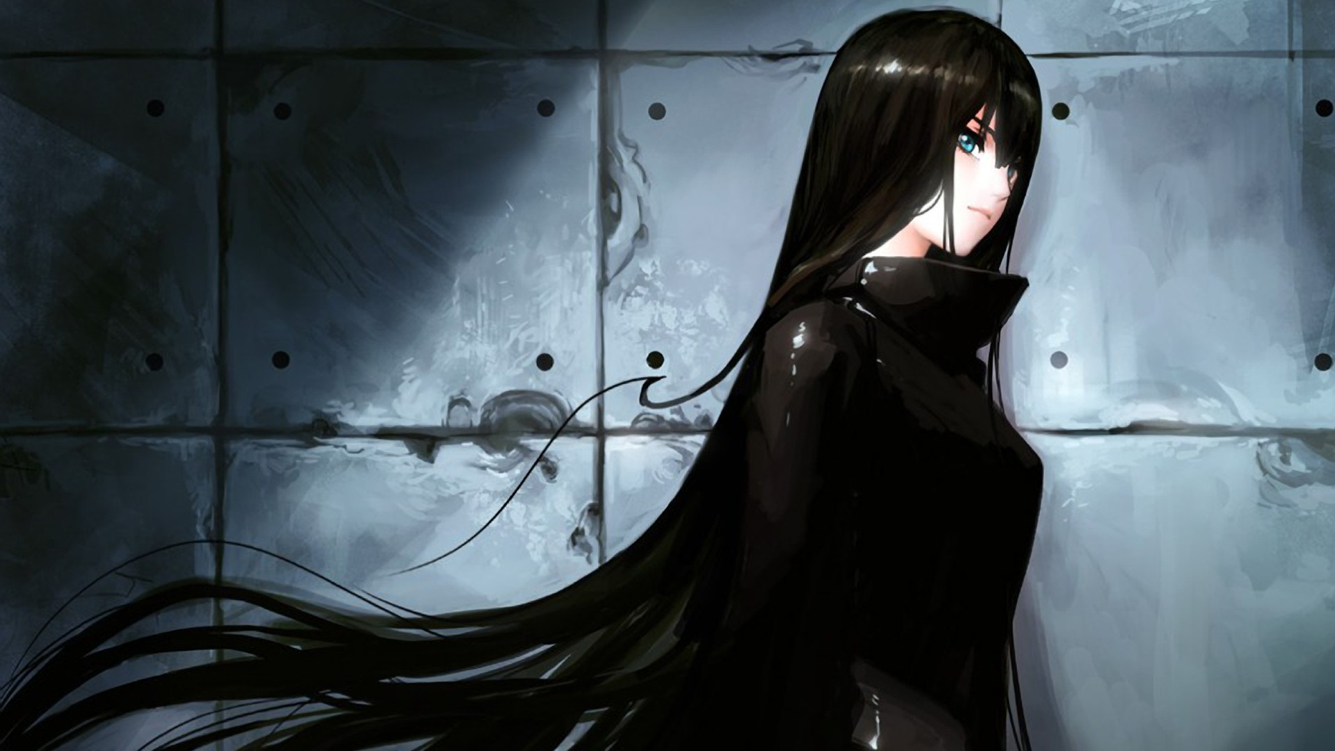 Anime girl with long black hair jpg