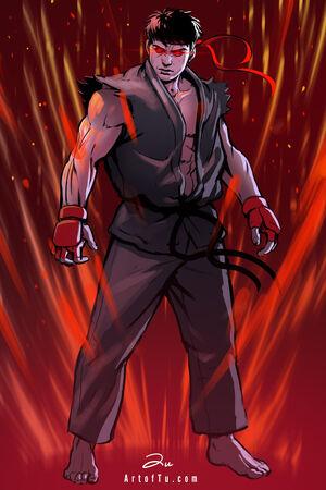 Evil ryu by artoftu-d5np71c