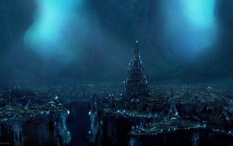 Dark fantasy world-