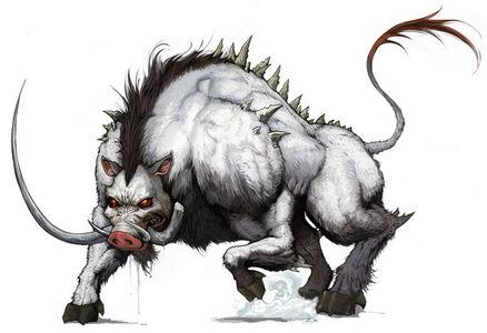 Daemon Boar Ready to Attack by DevaShard