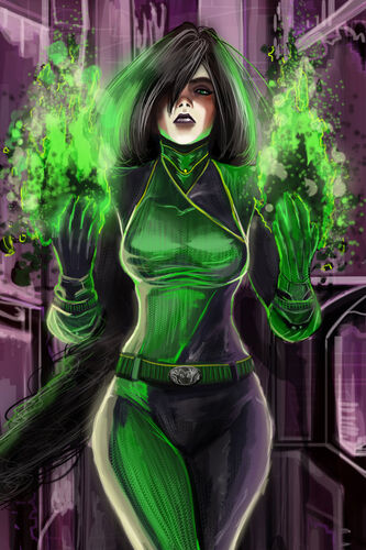 Shego colored by rossowinch-d84zytd