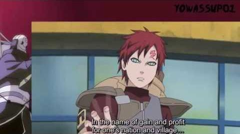 Gaara's speech english dub