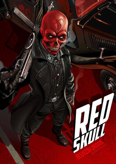 Red skull by onlymilo-d5qhnof