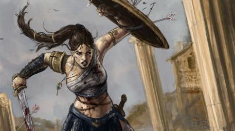 R169 457x256 10272 Amazon warrior 2d fantasy girl woman amazon warrior picture image digital art