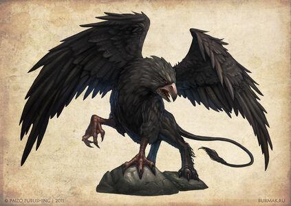 900x638 12320 Black griffon 2d fantasy creature griffin griffon picture image digital art