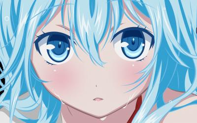 Blue Eyes Vector Wet Hair Transpa Denpa Onna To Seishun Otoko Touwa Erio Anime S 4000x2247 Hd Wallpaper 400x250 Png