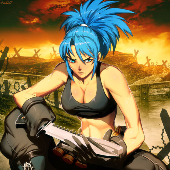 Kof xiii leona young mercenary by genzoman-d6t65gw