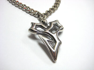 Ffx tidus necklace sterling silver-i637-632