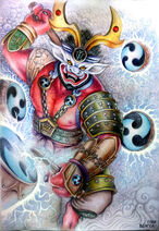 Raijin shinto god of thunder by vangel4e-da2pc4l