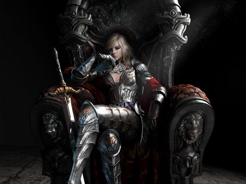 Art-devushka-koroleva-tron