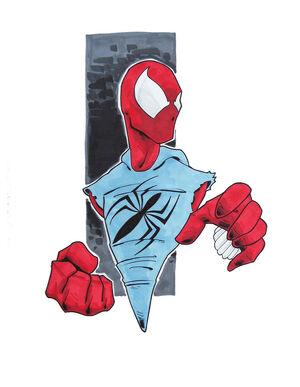 Ben reilly scarlet spider ugh by justinprime-d6u4p5w