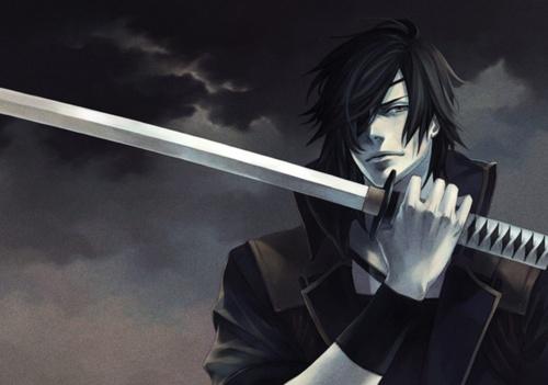 Арты аниме парней с мечами
