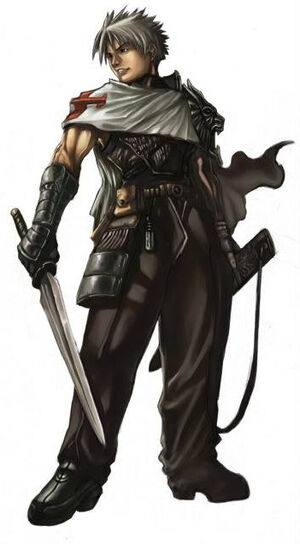 Novice male warrior by shonensan