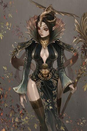 500x750 1469 Magician 2d fantasy wizard girl female woman picture image digital art
