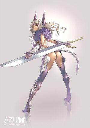 Tera online castanic slayer by azu chan-d7yuu05