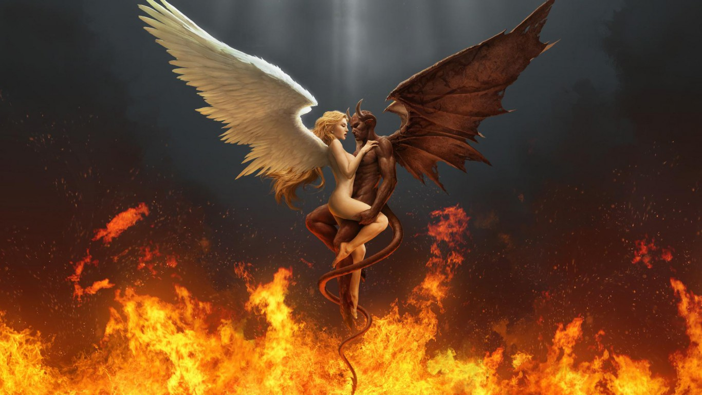 Cartoon Angel Digital Art Hd Fire Demon Tube 186376 Jpg