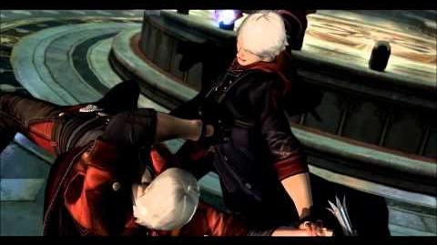 Nero beating up Dante