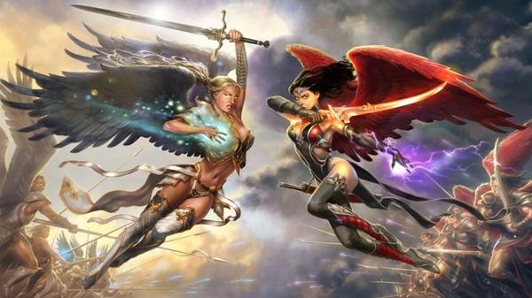 Wings fantasy art battles artwork female warriors fan 1920x1080 wallpaper wallpaperswa.com 80