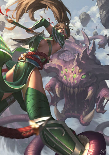 Akali vs baron by regition-d8me95l