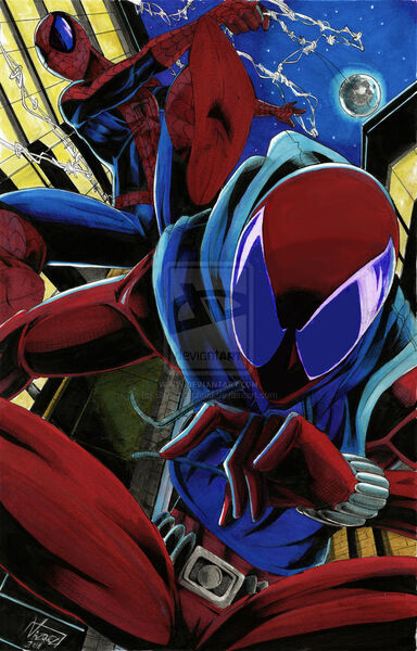 Spider man and the scarlet spider by blackarachnid-d4fizww