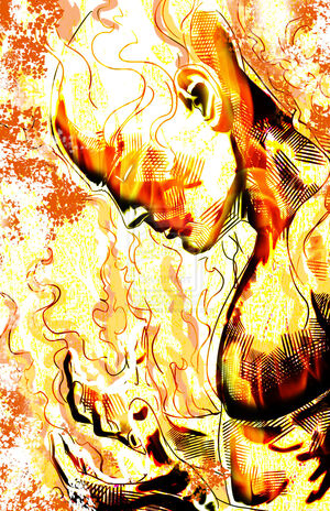 The human torch by jonhughes-d5dg7wh