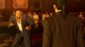Majima encounters the drunk customer