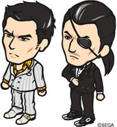 Kiryu and Majima in Ramen Soul