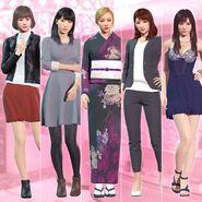 Sana, Tsukino, Amane, Nanami & Saori