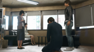 Saori accusing Hoshino of eating her cake