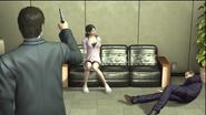 Arai shoots Shibata front of Yasuko