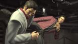 Akiyama kicks Kiryu