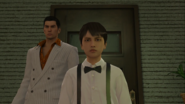Kiryu takes young Daigo to the bar following Daigo's request
