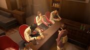 Kiryu,Yumi,Nishiki and Reina having fun chatting