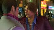 Yuya taunts Kiryu without knowing he was not a Yakuza.