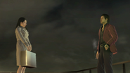 Lily and Akiyama atop Millenium Tower