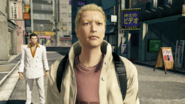 Ryuji explains his thought about Kamurocho front of Kiryu after accident bumped each other