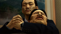 Katsuya holds Kanai's neck tightly