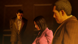 Majima requests Sagawa to private room to chat.