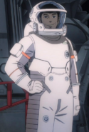 UNCN maintenance spacesuit