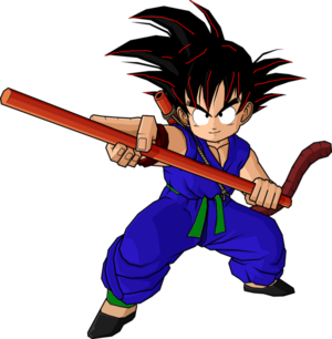 Kid goku blue gi by db own universe arts-d3jncow