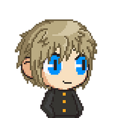 A full body upcoming sprite of Shota.
