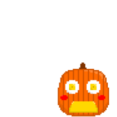 Pumpkin-chan when shocked.