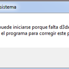 Missing d3dx9_49.dll file (Spanish).