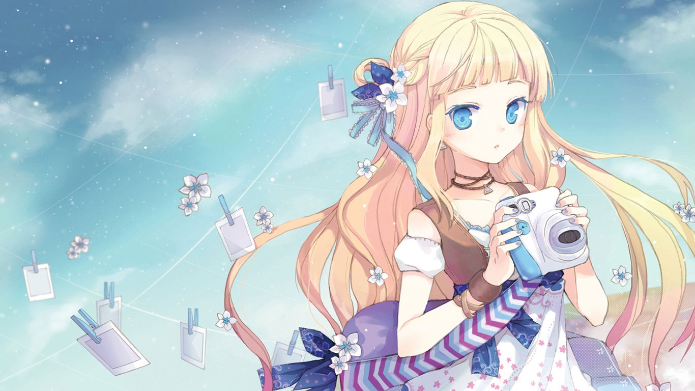 image anime girl with camera anime girl desktop wallpapers jpg