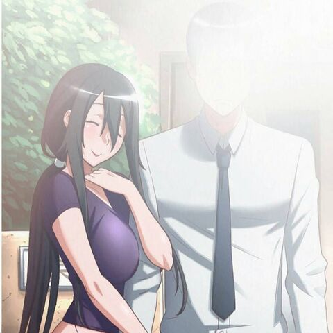 The picture of Ryoba and Ayano's father from the living room.
