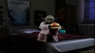 """10 hours of """" ASMR Yoda eats hamburger while my parents fight downstairs"""""""