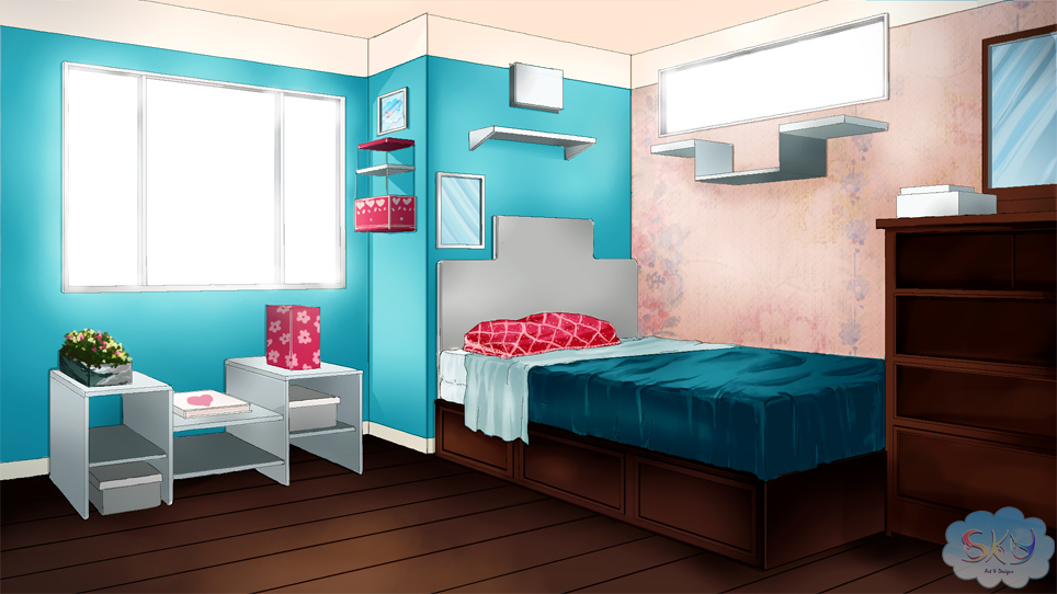 visual novel bedroom background 1 by sky morishita d9ga3nyjpg - Bedroom Background